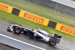 Rubens Barrichello que compete no prix grande de Montreal Fotografia de Stock Royalty Free