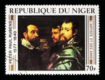 Rubens et amis, serie de Rubens Paintings, vers 1978 Photo stock