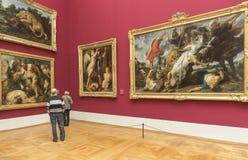 Rubens lavora al Alte Pinakothek - Monaco di Baviera, Germania Immagini Stock