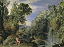 Rubens Peter Paul _Bril, Paul - landskap med psyken och Jupiter vektor illustrationer