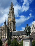 Rubens statue in Antwerp Stock Photos