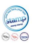 ruber γραμματόσημο Διανυσματική απεικόνιση