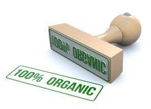 Ruber timbra-100% organico Fotografia Stock Libera da Diritti