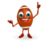 Rubgy ball character with pointing Royalty Free Stock Photography