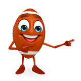 Rubgy ball character with pointing pose Royalty Free Stock Photos