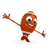 Rubgy ball character is running Royalty Free Stock Photos