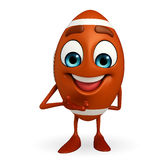 Rubgy ball character with wellcome pose Stock Photo