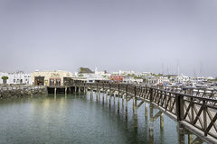 Rubicon小游艇船坞Playa布朗卡兰萨罗特岛 库存照片