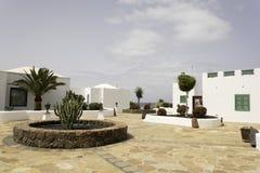 Rubicon小游艇船坞Playa布朗卡兰萨罗特岛 免版税库存照片