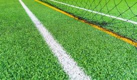 Rubieżna linia salowej futbolowej piłki nożnej stażowy pole Obrazy Stock