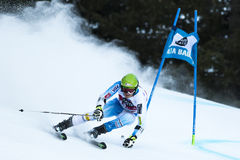 RUBIE Brennan. Val Badia, Italy 21 December 2014. RUBIE Brennan (Usa) competing in the Audi Fis Alpine Skiing World Cup Men's Giant Slalom on the Gran royalty free stock photos