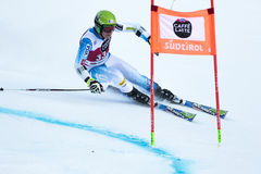 RUBIE Brennan. Val Badia, Italy 21 December 2014. RUBIE Brennan (Usa) competing in the Audi Fis Alpine Skiing World Cup Men's Giant Slalom on the Gran royalty free stock photo