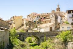 Rubielos de Mora, Teruel, Spagna Immagini Stock