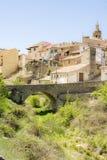 Rubielos de Mora, Teruel, Spagna Fotografia Stock Libera da Diritti