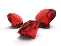 Rubies. Isolated on white background vector illustration