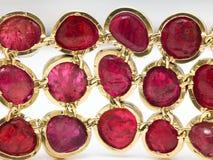 Rubies bracelet Stock Image