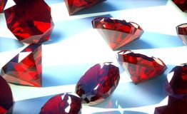 Rubies Stock Photography