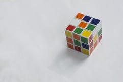Rubik łamigłówki sześcianu hobby gier artykułu wstępnego móżdżkowy pojęcie Obrazy Stock