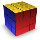 Rubik cube. Puzzle on white background Royalty Free Stock Photography