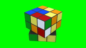 Rubik cube being solved stock illustration