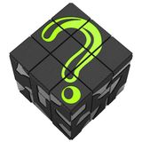 Rubik cube question Royalty Free Stock Photo