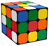 Rubik cube. Simple illustration of rubik cube on white background. attached eps file vector illustration