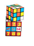 Rubik cube. On white isolated Royalty Free Stock Photo