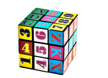Rubik cube. On white isolated Stock Images