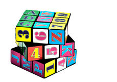 Rubik cube. On white isolated Royalty Free Stock Photos
