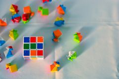 Rubik& x27; cubo de s imagem de stock