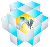Rubik office Cubicle Royalty Free Stock Image