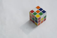 Rubik puzzle cube brain hobby games editorial concept Stock Images
