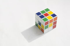 Rubik puzzle cube brain hobby games editorial concept Royalty Free Stock Photos