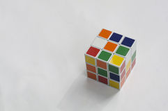 Rubik puzzle cube brain hobby games editorial concept Royalty Free Stock Photography