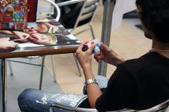 rubik s кубика конкуренции Стоковая Фотография