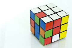 Rubik's cube. Over white background Royalty Free Stock Image