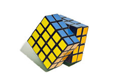 Rubik's Cube. World famous rubik's cube with white background Royalty Free Stock Photography