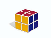 Rubik's Cube. World famous rubik's cube with white background Royalty Free Stock Photo
