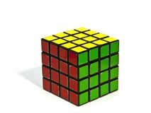 Rubik's Cube. World famous rubik's cube with white background Royalty Free Stock Image