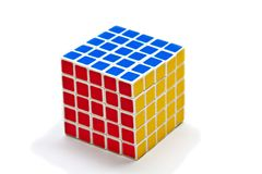 Rubik's Cube. World famous rubik's cube with white background Stock Photos