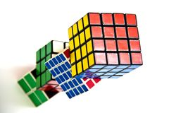 Rubik's Cube. World famous rubik's cube with white background Royalty Free Stock Images