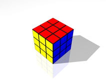 Rubik's Cube. The world's top-selling puzzle game, the Rubik's Cube, a 3-D mechanical puzzle invented in 1974 by Hungarian sculptor and professor of architecture Royalty Free Stock Photos