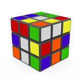 Rubik's Cube. A Classic Rubik's Cube on a white background Royalty Free Stock Photos