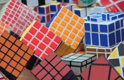 Rubik's cube background Royalty Free Stock Image