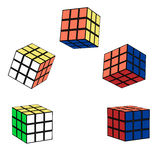 The Rubik`s cube in flight royalty free illustration