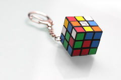 Rubik's cube key chain. A Mini size cube key chain Royalty Free Stock Image