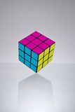 Rubik's cube. Standing on the edge Stock Image