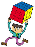 Rubik's cube success Stock Photo