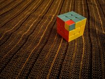 Rubik& x27;s cube. Rubik& x27;s cube in an unsolvable situation Stock Images