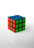 Rubik's cube whit rgb colors. Red green and blu Stock Photos